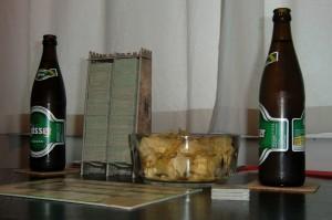 Bier und Chips sind bei einer dreistündigen Carcassonne-Partie absolut überlebensnotwendig