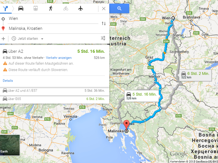 Der Weg nach Malinska