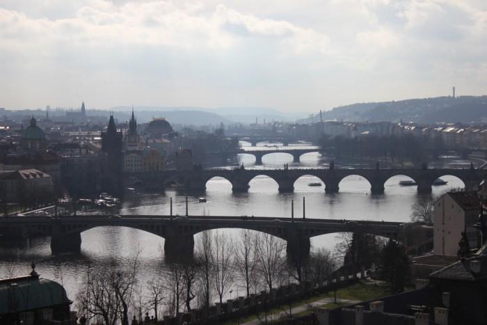Viele Brücken in der Stadt
