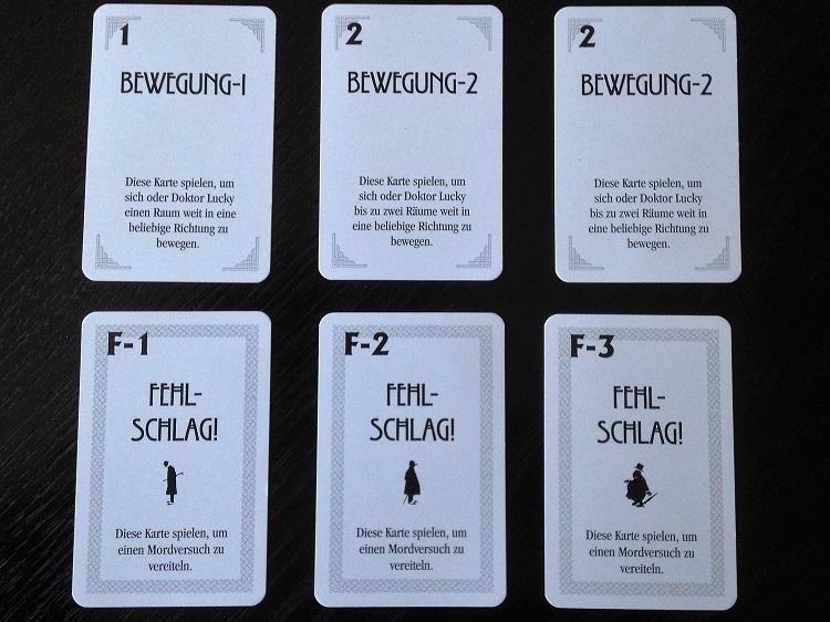 Bewegungs- und Fehlschlagkarten
