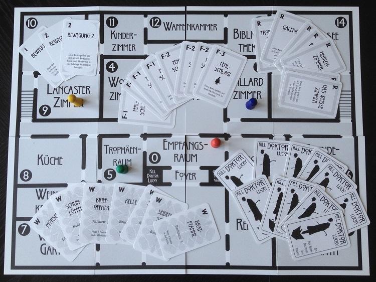 Spielbrett und Spielkarten