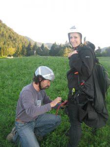 Erster Paragleiten Tandemflug mit der Flugschule Kilb in Niederösterreich