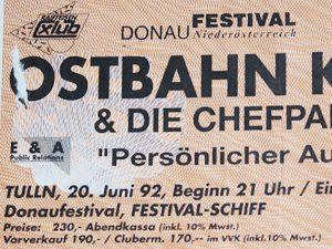Eines von vielen Konzerten: Auch in Tulln am Festival-Schiff war ich dabei.