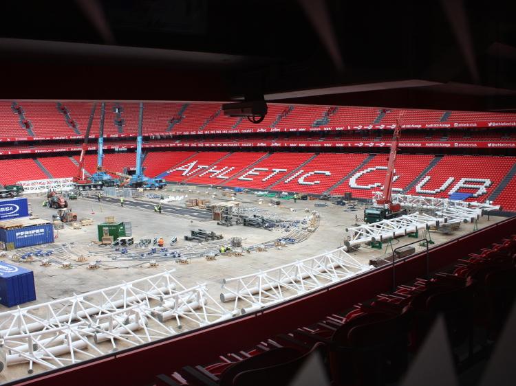 Ein kleiner Blick ins Stadion - leider im Umbau
