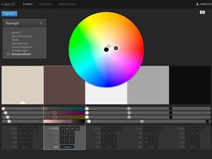 Adobe Color: Die typischen Farben eines Tulpenbaums