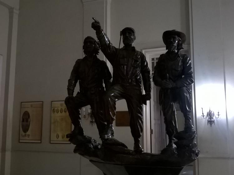 Die drei Revolutionsführer Ché Guevara, Fidel Castro und Camilo Cienfuegos