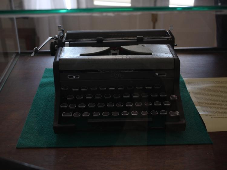 Ernest Hemingways Schreibmaschine in Originalzustand