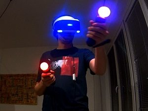 playstation vr move controller glowing