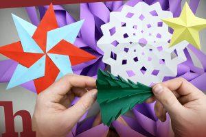 Weihnachtsbasteln mit Kids – 5 coole Ideen im Video