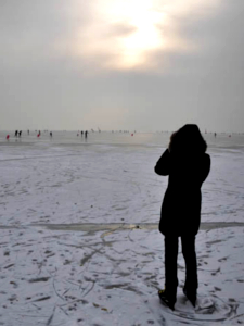Eislaufen am Neusiedler See Meer der Wiener Erfahrungsbericht Test Helden der Freizeit