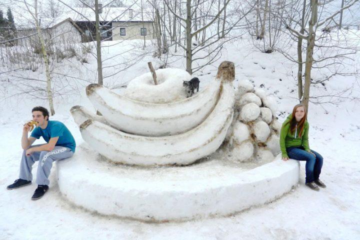 Schneemannbauen 2.0 – so arbeitet ein Snow-Art-Künstler