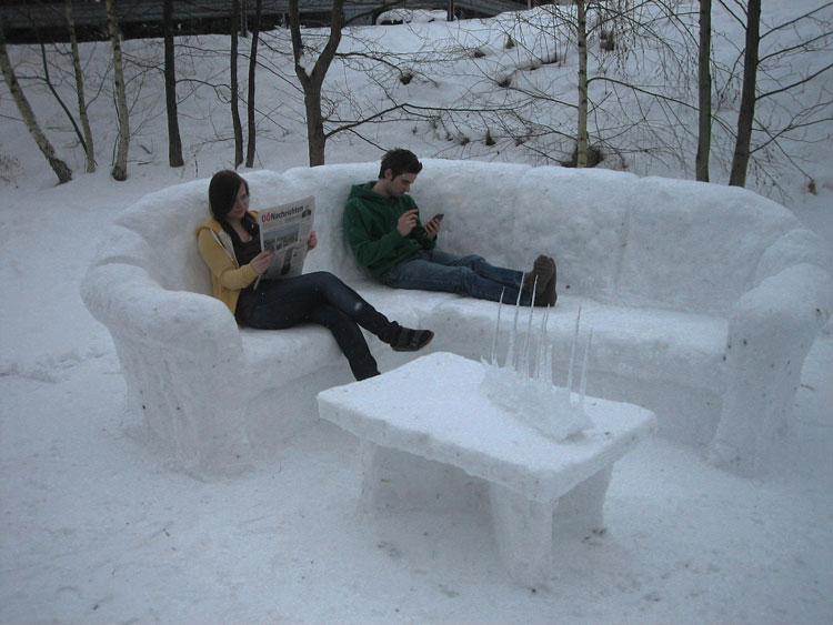 Snow-Art-Künstler Stefan Hillinger