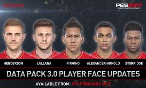PES 17 Update Bonus Pack 3 Upgrade neue Gesichter