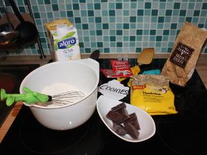 vegan, Schoko, Cookies