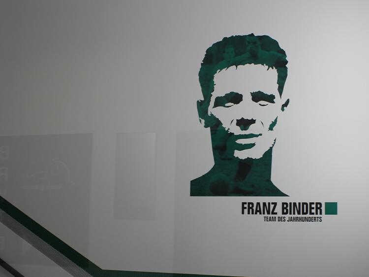 Franz Binder Stadiontour Rapid Allianz Stadion Weststadion