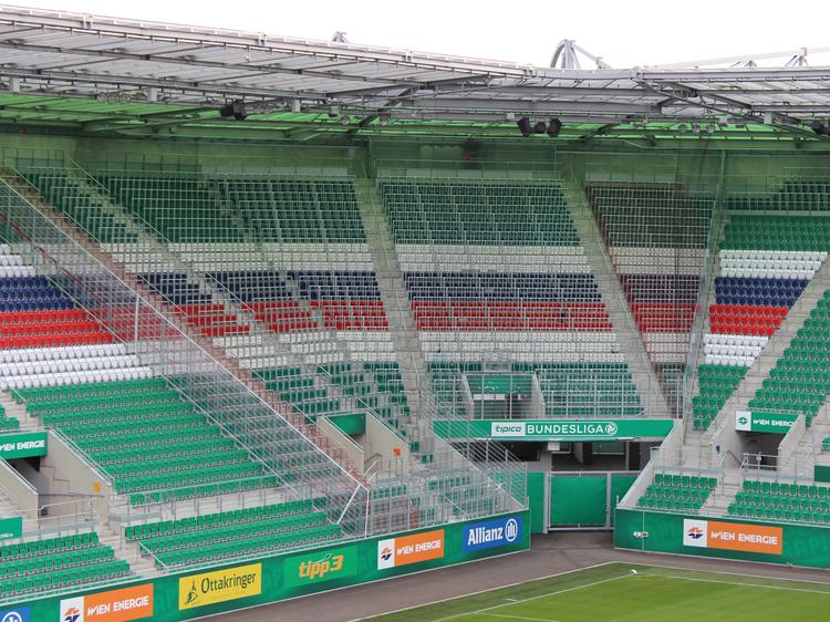 Gästesektor Stadiontour Rapid Allianz Stadion Weststadion