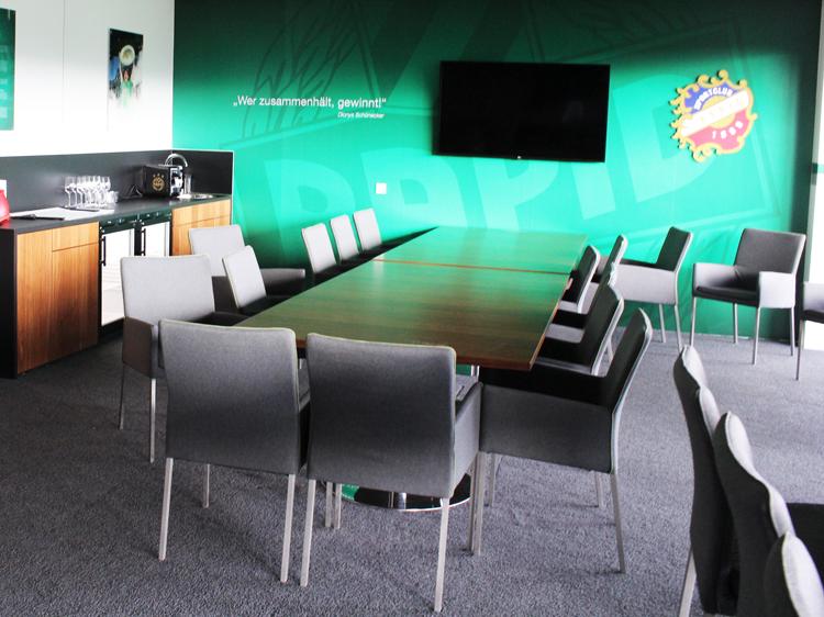 VIP-Loge innen Stadiontour Rapid Allianz Stadion Weststadion