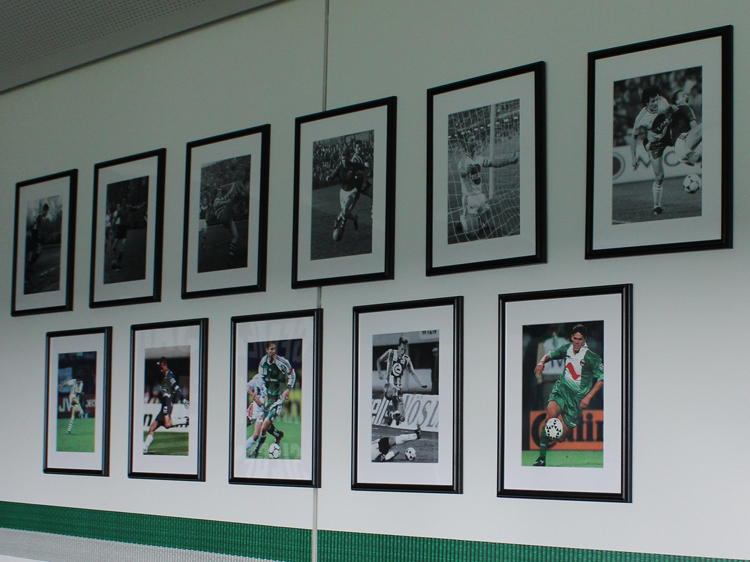 Legendenbilder in der VIP-Loge Stadiontour Rapid Allianz Stadion Weststadion