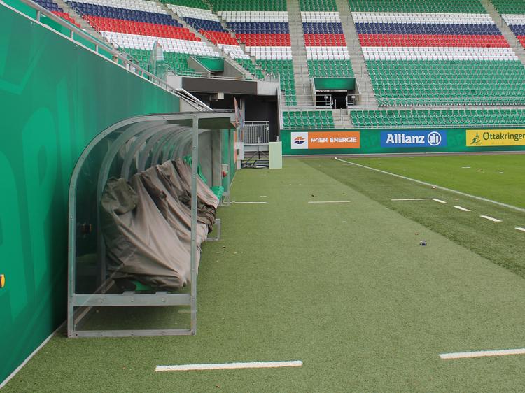 rapid kabine allianz stadion weststadion führung ersatzbank auswärtsteam