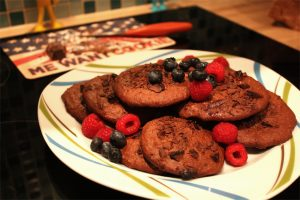 vegane schoko-cookies, rezept, vegan, kochen, backen