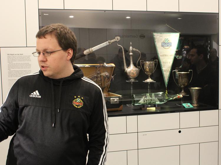 Führte kompetent und eloquent durch Rapideum und Stadion: Laurin Rosenberg