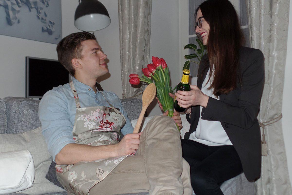 Valentinstag auf gemütlich: Aber mit Rollentausch!
