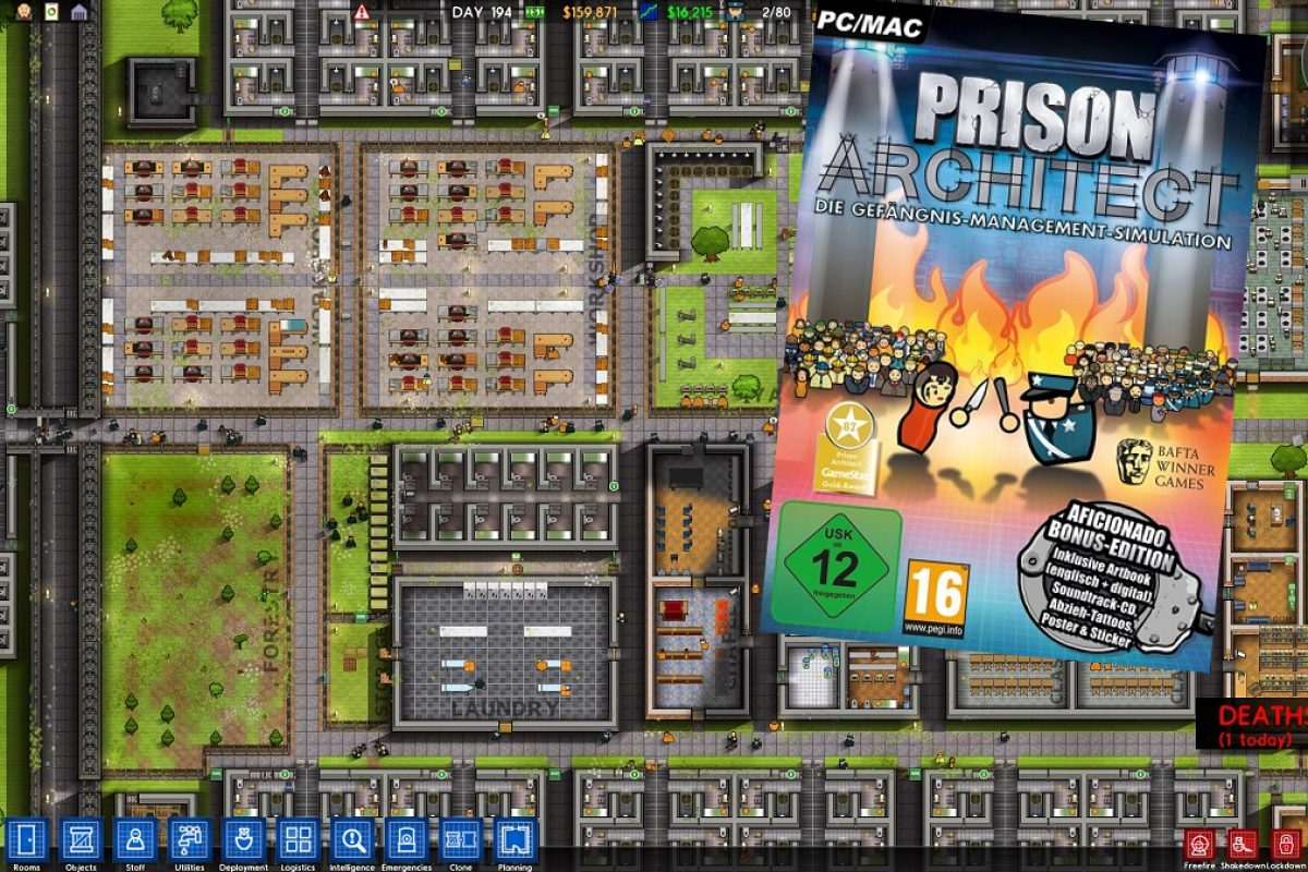 Prison Architect Bonus Edition – wir packen die Aficionado-Version aus