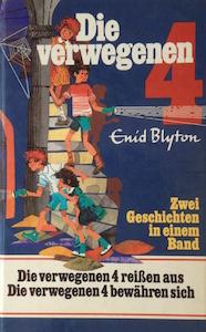 enid blyton, die verwegenen vier, kinderbuch-klassiker, kinderbuch, klassiker. cover, reißen aus