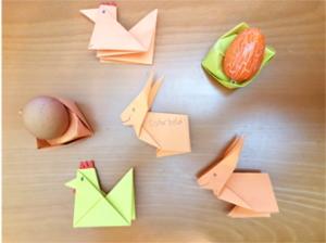 osterorigami, henne, hase, ostereiernest, osterorigami henne, osterorigami hase, origami ostereiernest, origami, video, anleitung, video-anleitung
