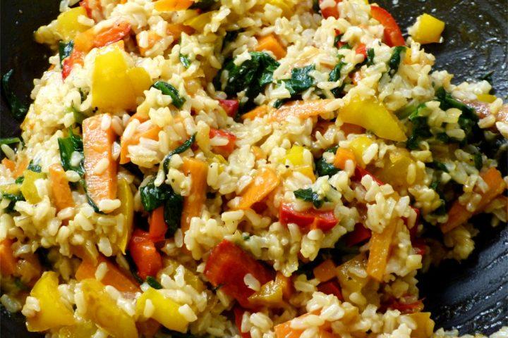 Essen gegen Heuschnupfen! Der Paprika-Spinat-Wok
