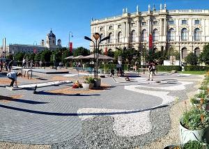 minigolf, museumsquartier, skulpturenpark, mq amore, minigolfplatz