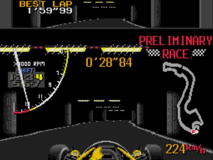 tunnel, super monaco gp, blanche, preliminary race