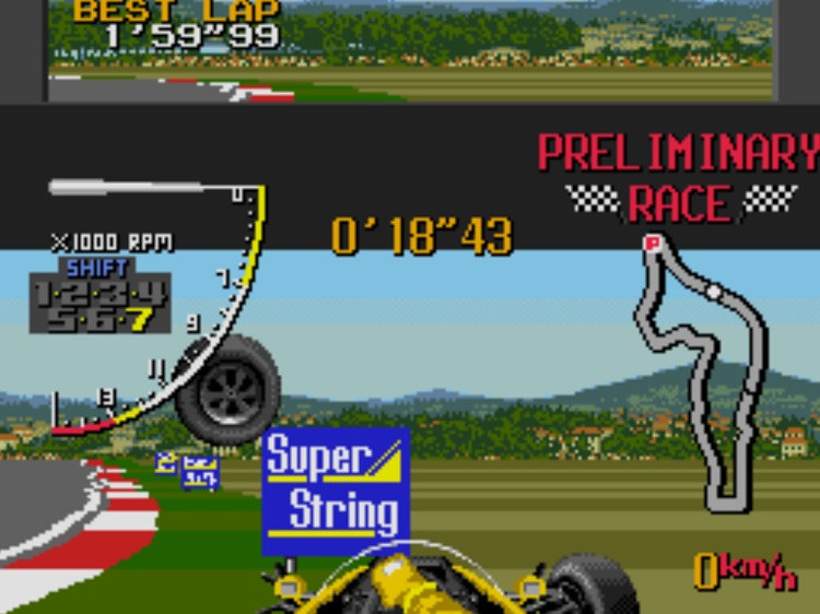 ayrton senna, super monaco gp II, formel-1, game, spiel, test, crash