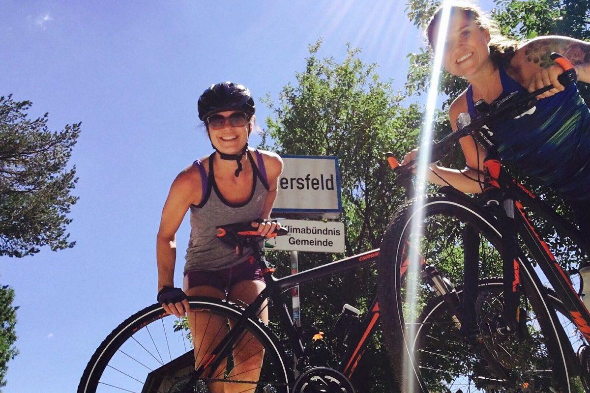 Sandra radelt – so läuft die 1. Radiosendung live vom Fahrrad