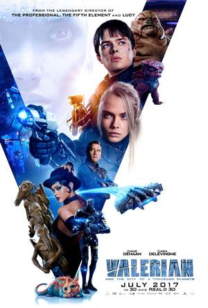 cast, film, valerian, science-fiction, poster