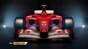 f1 2017, formel 1, alte autos, spiel, autos, codemasters, rote göttin, ferrari f2002, ferrari, f2002