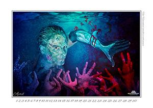 Reefcalendar, Kalender, Meere, Bodypainting, Kalenderblatt