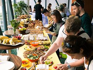 viennergy fotorallye, 2019, fotorallye, fruehstueck, buffet, riverbox