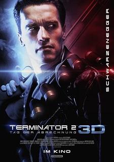plakat, filmplakat, terminator 2 3d