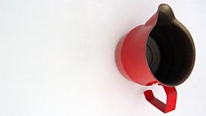 Kaffee, Milchkanne, Metall, Rot