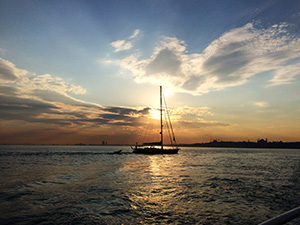 Istanbul, Fähre, Sonnenuntergang