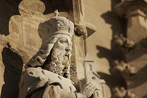 statue, heiliger leopold, landespatron, wien, niederösterreich, stift klosterneuburg, leopold III