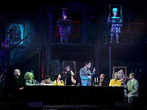 addams family musical, the addams family, musical, tisch, dinner, wien, 2017