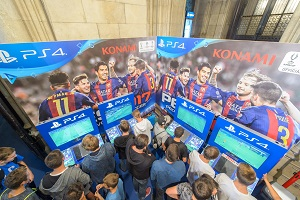 game city, wien, pro evolution soccer, stand, aussteller, playstation 4, ps4, pes