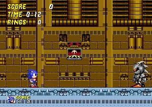 sonic 2, mech sonic, robo sonic, sonic the hedgehog 2, screenshot, endboss, dead egg zone