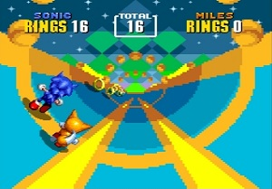 sonic 2, test, special stage, sonic, tails, mega drive, klassiker, jump 'n' run