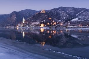 dürnstein, weihnachtszeit, winter, schifffahrt, donau