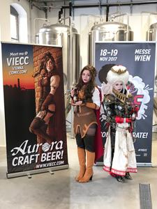 Vienna Comic Con 2017, Aurora, Craft Beer, Bier, Brauerei, Verkleidung, Frau