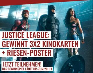 Justice League Gewinnspiel, Kinokarten, Poster, The Flash, Batman, Wonder Woman