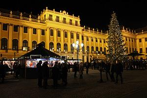 weihnachtsmarkt schloss schönbrunn, weihnachtsmarkt, christkindlmarkt, schloss schönbrunn, ehrenplatz, stände, christbaum